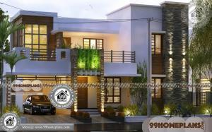 New Design Houses in Kerala 60+ Narrow Double Story House Plans