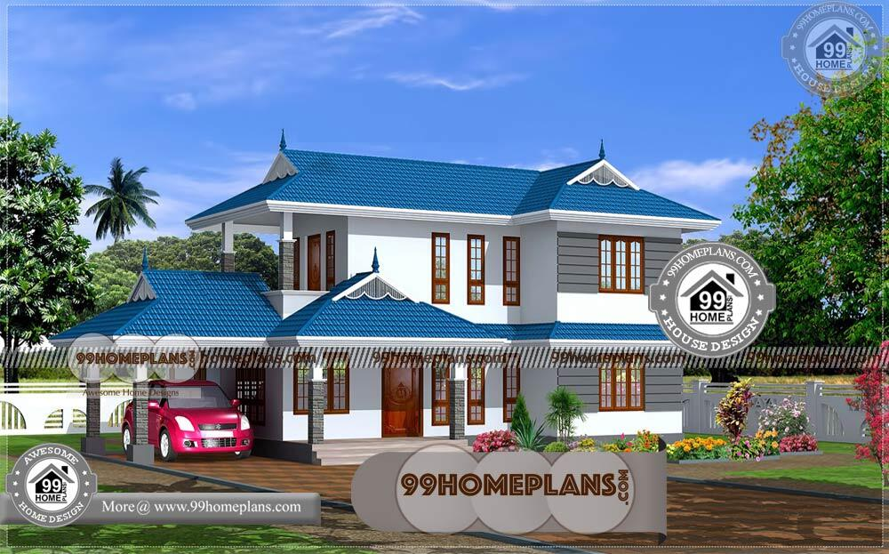 New Style Houses in Kerala 90+ Two Floor House Plans Modern Designs