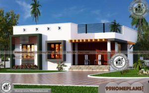 One Floor House Plans | 90+ House Front Elevation Simple Designs