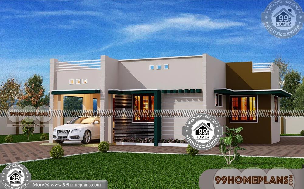 One Story Homes 70+ Contemporary Home Plans Free Modern Designs