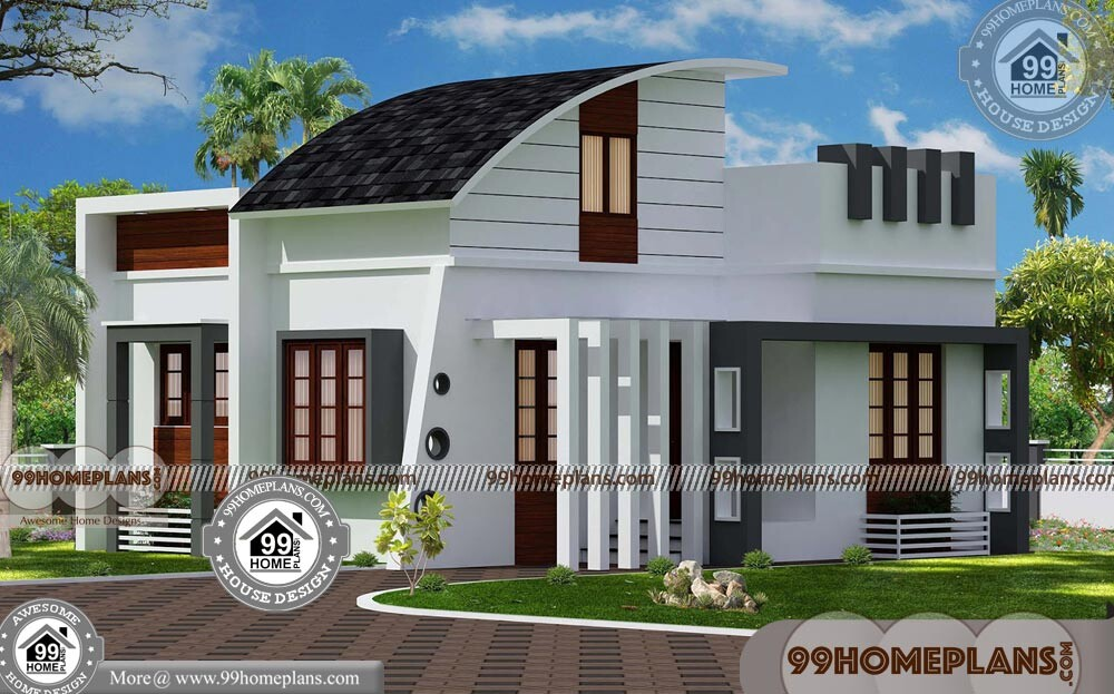 One Story House Plans with Porch | 90+ Contemporary Home Plans Free