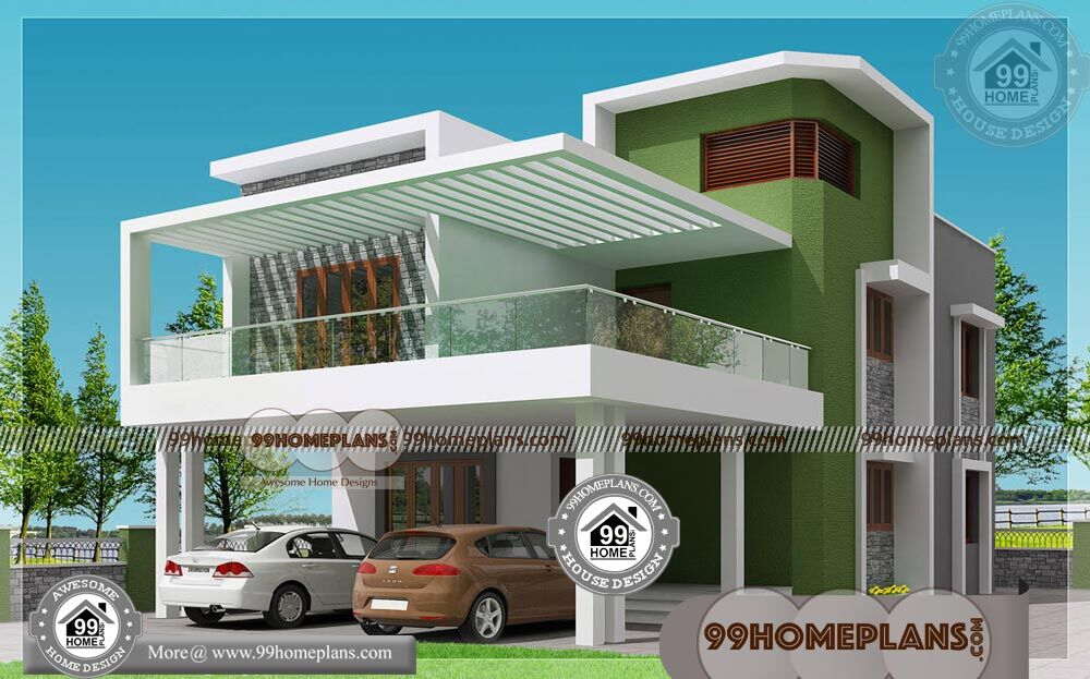 Plan Of Two Storey House With Low Cost Construction House Plans Free