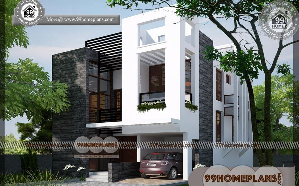 Simple Economical House Plans | 80+ Small Two Storey House Designs