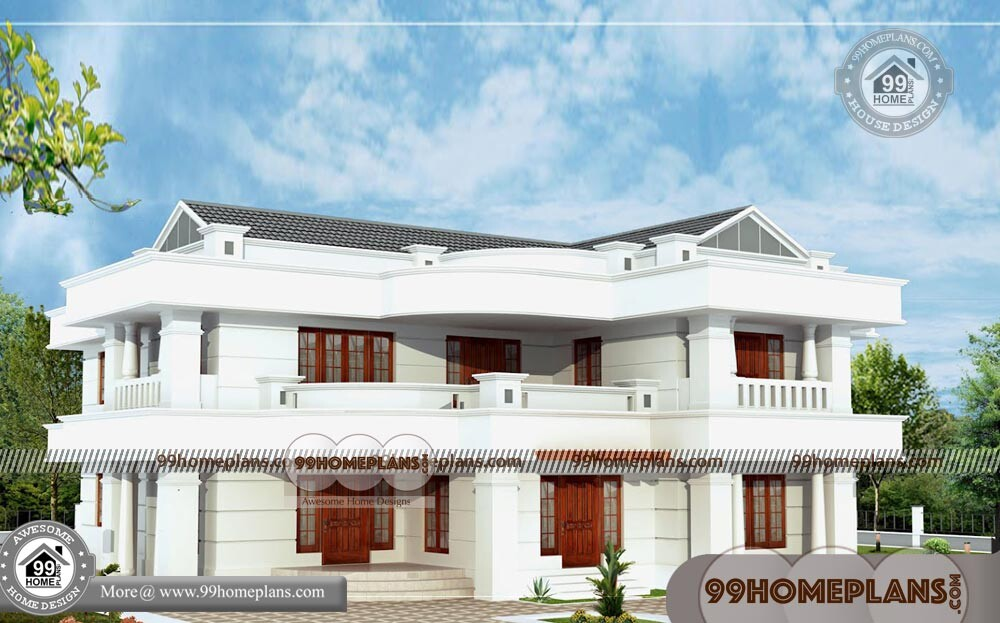 Simple Indian House Designs & 2 Story House Designs And Floor Plans
