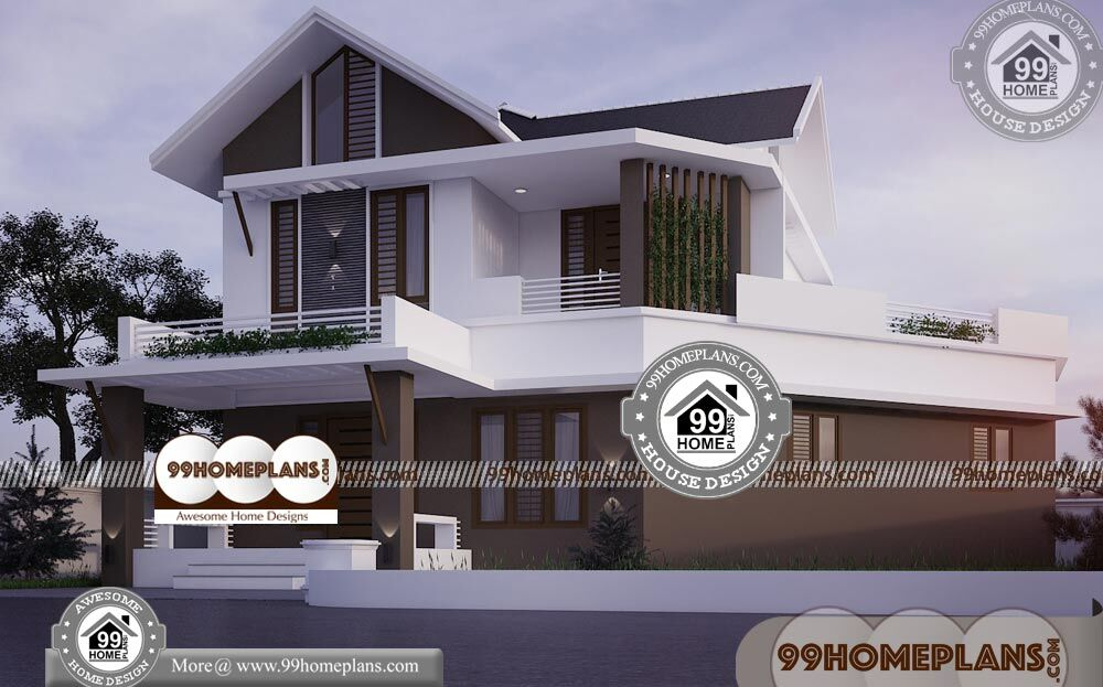 Simple Indian House Front Design 100
