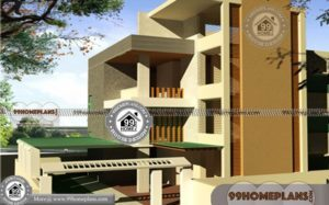 Simple Modern House Designs and Floor Plans | 90+ 3 story Designs