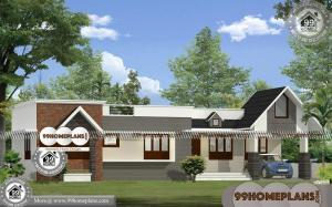 Single Floor Home 100+ Contemporary Style House Plans In Kerala Online