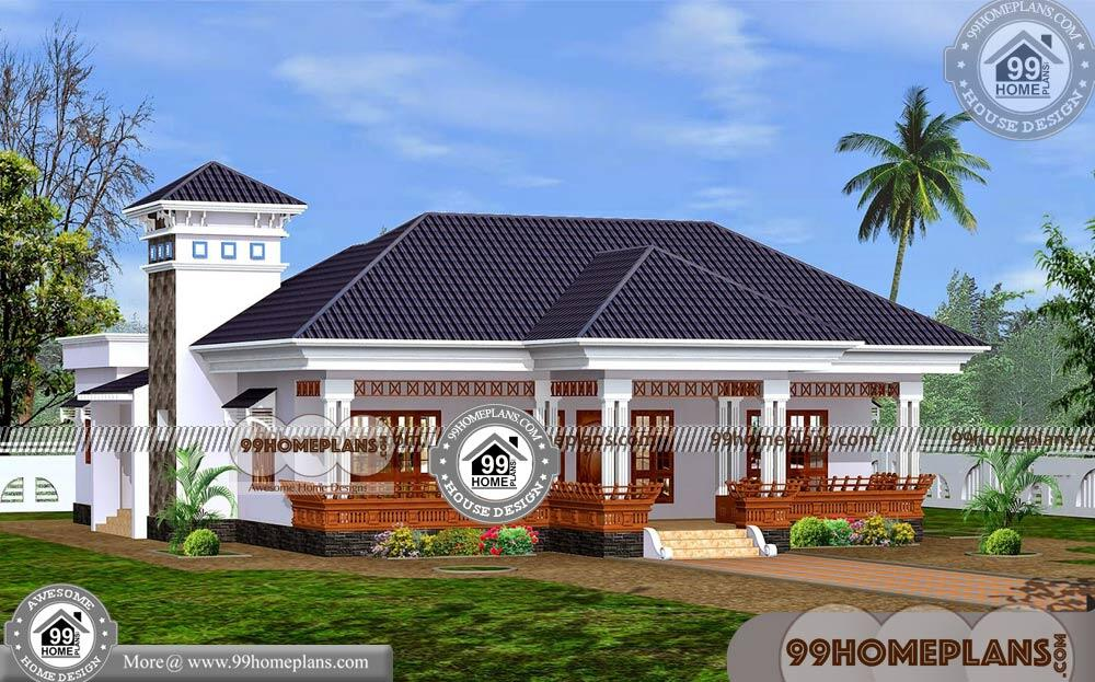 Single Floor House Plans Indian Style | 70+ Kerala Traditional House Plans