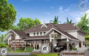 Single Floor Modern House Designs 70+ Kerala Traditional Home Plans