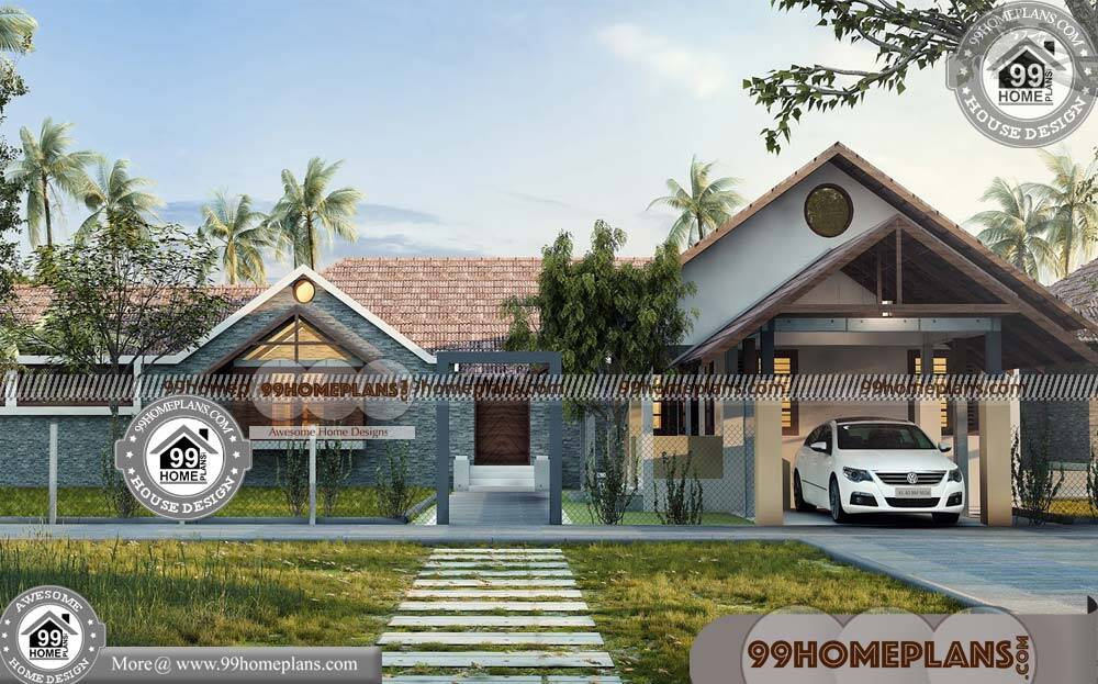 Single Level Homes 75+ Traditional Bungalow Floor Plans Online Designs