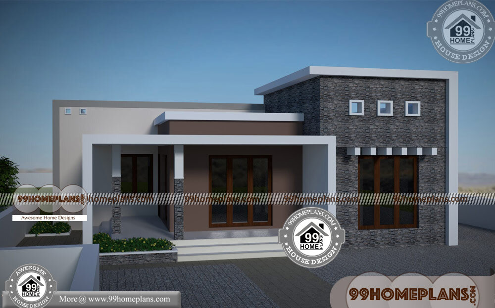 Single Story Flat Roof House Plans | 90+ Kerala ...