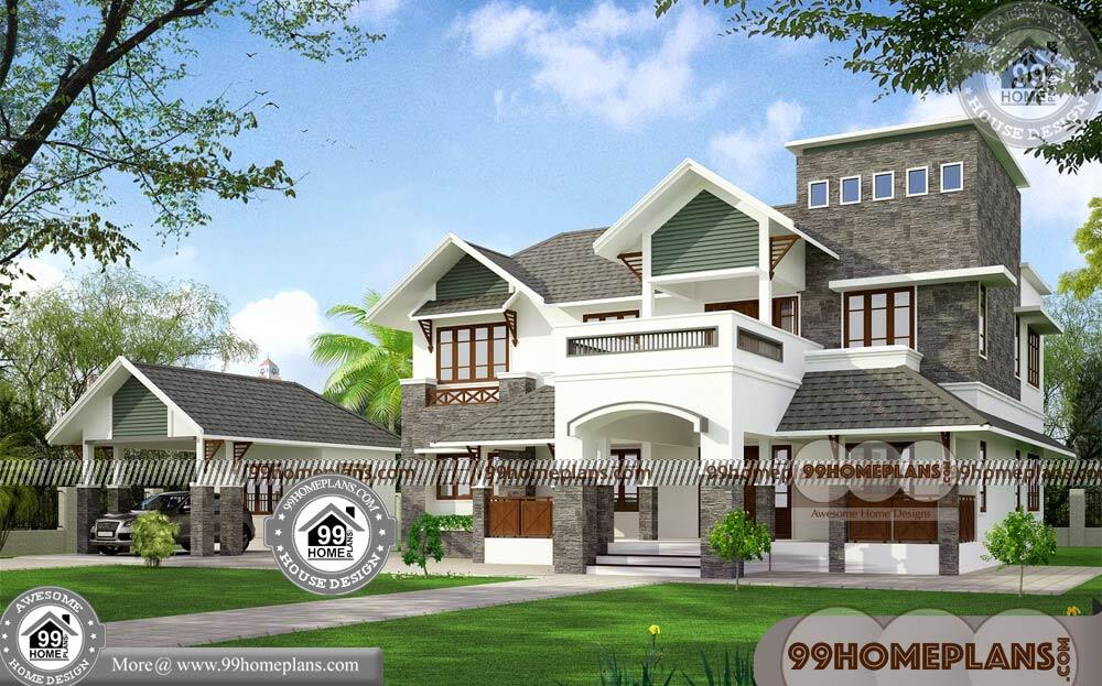 Small 2 Storey House Plans with Kerala Traditional House Models Online