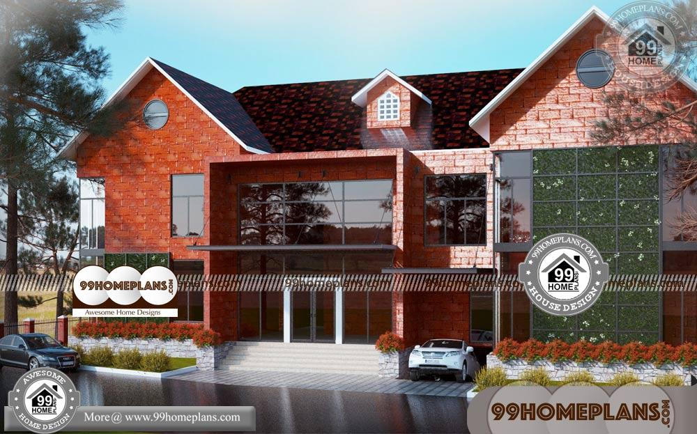 Small House Construction Plans | 90+ Double Story Homes Designs Plans