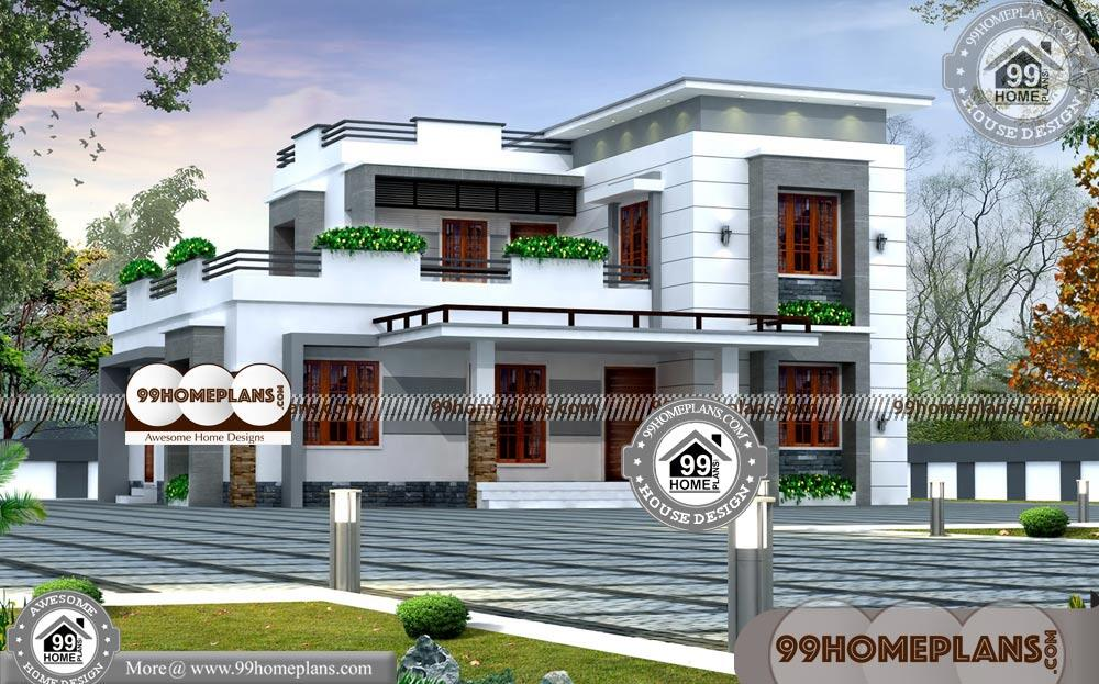 Small Luxury House Plans with Photos & 100+ Modern Two Story Homes