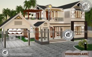 Small Plot House Plans & 90+ 2 Storey Home Designs Modern Style Plans