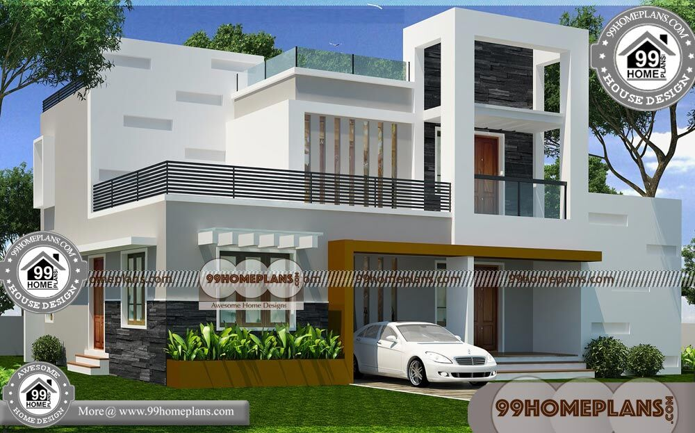Two Story House Plans with Balconies 80+ Contemporary House Design