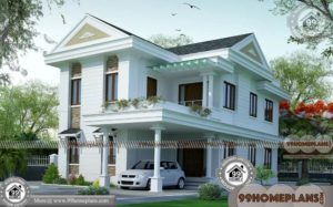 Two Story Modern House Design | 100+ Latest House Designs In India