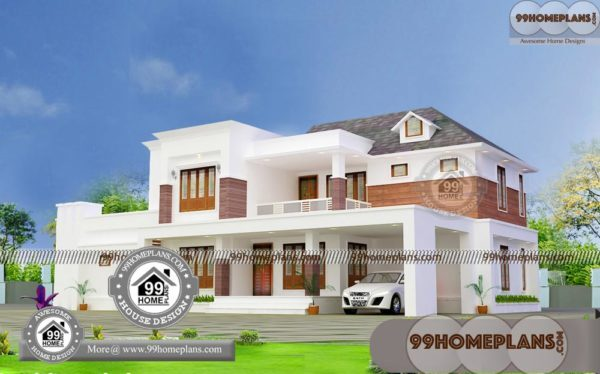 Two Story Small House Design Plans | 100+ Kerala Home Floor Plans