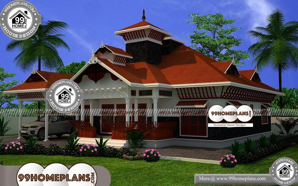 Nalukettu Houses in Kerala - One Story 1600 sqft-Home