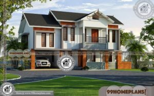 Kerala House Architecture Plans & 80+ Double Storey House Designs